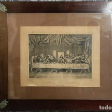 Arte: LITOGRAFÍA LA CENA XIX. Lote 195304676