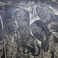 Arte: LITOGRAFÍA PORTAL DE BELÉN FIRMADA. Lote 195305595
