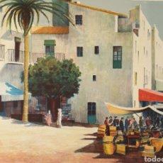 Arte: JOSEP Mª VAYREDA CANADELL (OLOT, 1932-2001) - MERCADO DE CADAQUÉS.PRUEBA DE AUTOR.FIRMADA.. Lote 195392138