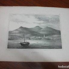 Arte: GRABADO DE ALGECIRAS CADIZ SIGLO XIX - VISTA. Lote 195495621
