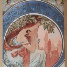 Arte: ALPHONSE MUCHA 1898 - LA POESIE LITOGRAFIA ORIGINAL FIRMADA. Lote 195551345