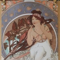 Arte: ALPHONSE MUCHA 1898 - LA MUSIQUE, LITOGRAFIA ORIGINAL FIRMADA. Lote 195551516