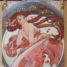 Arte: ALPHONSE MUCHA 1898 - LA DANSE, LITOGRAFIA ORIGINAL FIRMADA. Lote 195551740