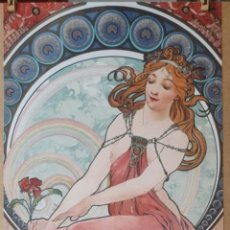 Arte: ALPHONSE MUCHA 1898 - LA PEINTURE LITOGRAFIA ORIGINAL FIRMADA. Lote 195551875