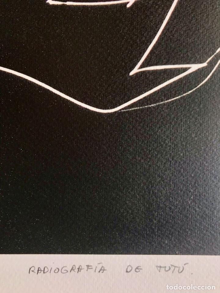 Arte: Envío 8€. Radiografía de tutú del artista JARR firmada PA a mano por el artista.mide 40x30cm - Foto 4 - 136000001