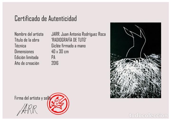 Arte: Envío 8€. Radiografía de tutú del artista JARR firmada PA a mano por el artista.mide 40x30cm - Foto 7 - 136000001