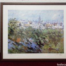 Arte: LITOGRAFÍA FIRMADA 168/999. EL VENDRELL?? CON MARCO Y CRISTAL. Lote 196050528