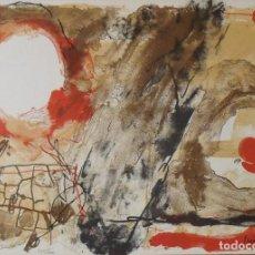 Arte: JOSEP GUINOVART. LITOGRAFÍA HORIZONTES. POLÍGRAFA. CERTIFICADO AUTENTICIDAD, FASCÍCULO Y CARPETA.. Lote 220926490