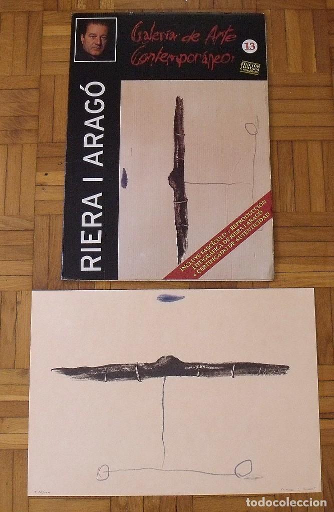 Arte: Riera i Aragó. Litografía Submarino. Polígrafa. Certificado autenticidad, fascículo y carpeta. - Foto 2 - 223952371