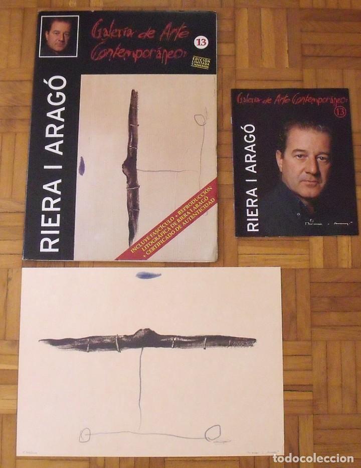 Arte: Riera i Aragó. Litografía Submarino. Polígrafa. Certificado autenticidad, fascículo y carpeta. - Foto 3 - 223952371