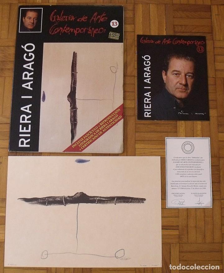 Arte: Riera i Aragó. Litografía Submarino. Polígrafa. Certificado autenticidad, fascículo y carpeta. - Foto 4 - 223952371