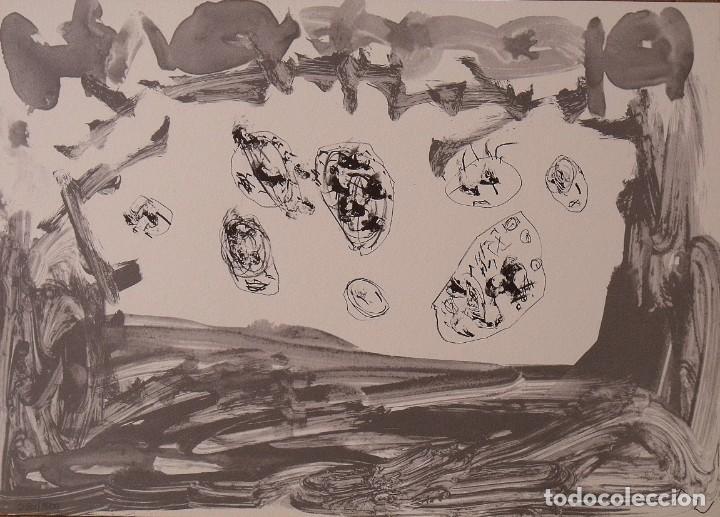 ANTÓN LAMAZARES. LITOGRAFÍA ERAN MAIS CA UN. CERTIFICADO AUTENTICIDAD, FASCÍCULO Y CARPETA. (Arte - Litografías)