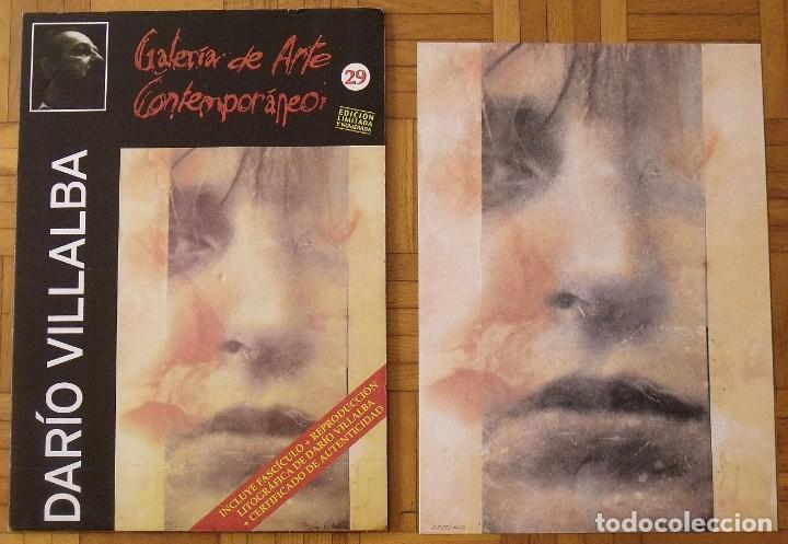 Arte: Darío Villalba. Litografía Chap-Héroe. Certificado autenticidad, fascículo y carpeta. - Foto 2 - 196084588