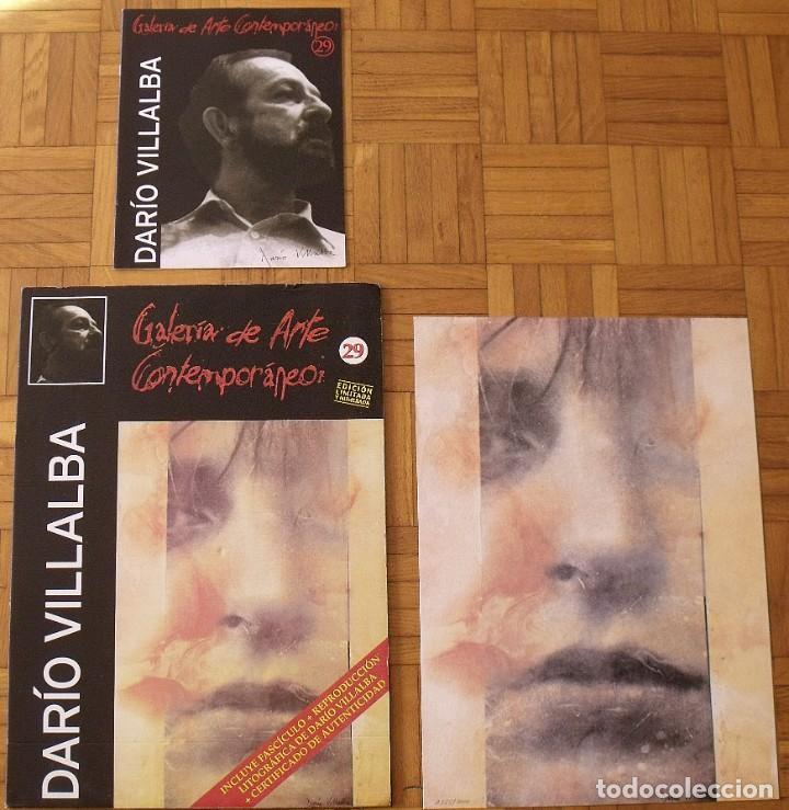 Arte: Darío Villalba. Litografía Chap-Héroe. Certificado autenticidad, fascículo y carpeta. - Foto 3 - 196084588