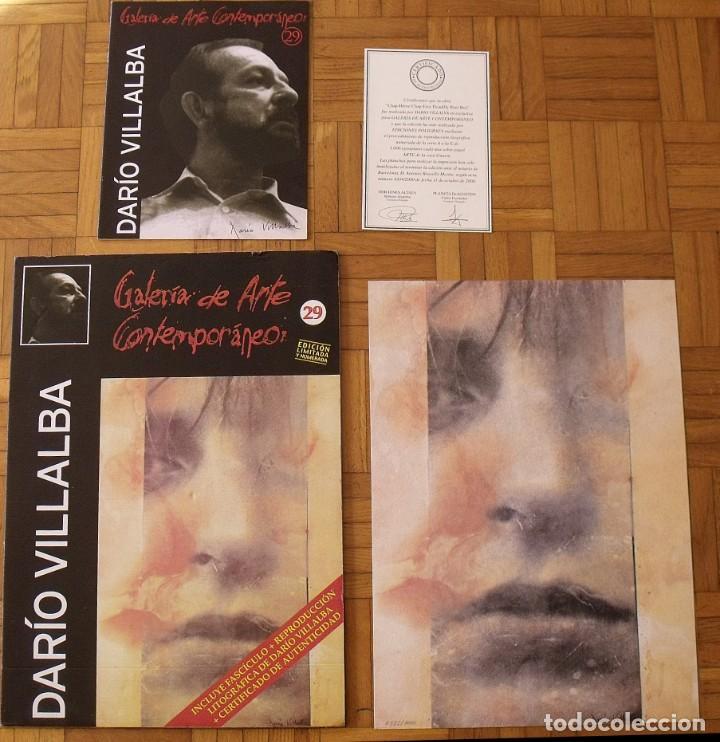Arte: Darío Villalba. Litografía Chap-Héroe. Certificado autenticidad, fascículo y carpeta. - Foto 4 - 196084588