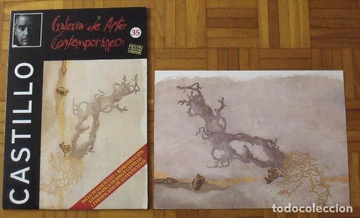 Arte: Jorge Castillo. Litografía. Certificado autenticidad, fascículo y carpeta. - Foto 2 - 196089120
