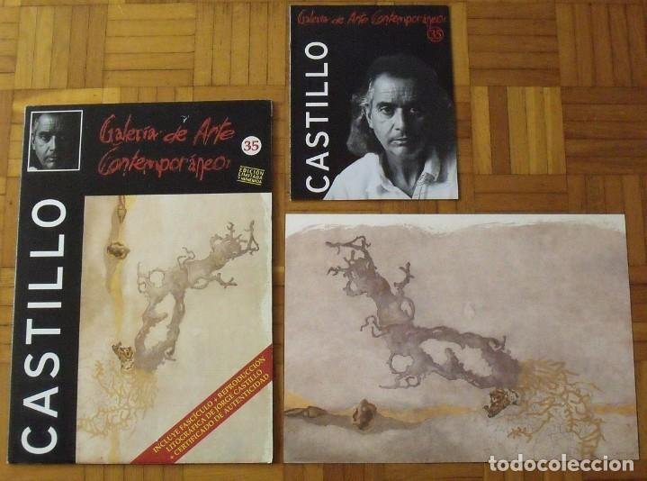 Arte: Jorge Castillo. Litografía. Certificado autenticidad, fascículo y carpeta. - Foto 3 - 196089120