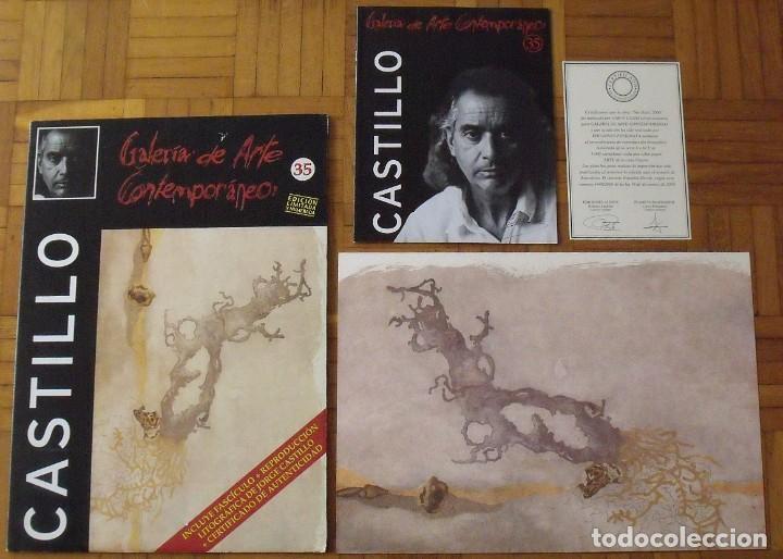 Arte: Jorge Castillo. Litografía. Certificado autenticidad, fascículo y carpeta. - Foto 4 - 196089120