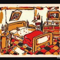 Arte: LUIGI VIOLA DORMITORIO LITOGRAFIA ORIGINAL FIRMADA FECHADA 96 Y NUMERADA A LÁPIZ P.A. PRUEBA ARTISTA. Lote 196218202