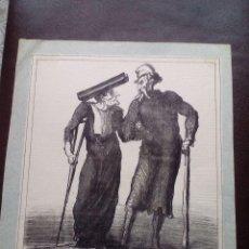 Arte: LITOGRAFÍA / GILLOTAGE ORIGINAL DE HONORÉ DAUMIER FIRMADA. AÑO 1872.. Lote 196569938