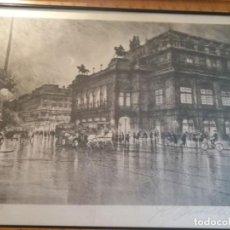 Arte: LITOGRAFÍA DE LA ÓPERA DE VIENA, FIRMADA, 1927. Lote 196655402