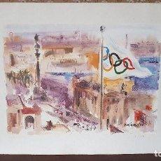 Arte: VIVES FIERRO. LITOGRAFÍA OLIMPIADAS BARCELONA 92. NUMERADA Y FIRMADA. 53/100, PIEZA MUY ESCASA.. Lote 197231415