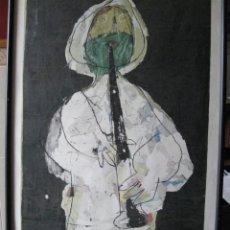 Arte: CLARINETISTA, MAGNIFICA LITOGRAFÍA PRUEBA DE ARTISTA FIRMADA. Lote 197390938