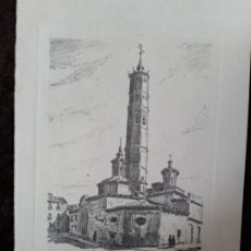 Arte: GRABADO: LITOGRAFÍA / * IGLESIA DE SAN PABLO (ZARAGOZA) *. FIRMADO; CMD. PERFECTO ESTADO.. Lote 197450153