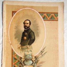Arte: PRIM. FELIPE GONZALEZ ROJAS LITÓGRAFO. 1893. Lote 197548847