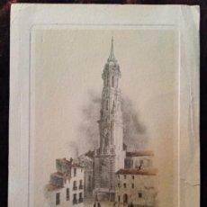 Arte: GRABADO: LITOGRAFÍA A COLOR / * TORRE DE LA SEO (ZARAGOZA) *. (S. XIX). MEDIDAS (16 X 11,8 CM).. Lote 197563472