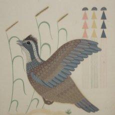 Arte: GERALD NAILOR (1917 - 1952) LITOGRAFIA A COLOR DE APROXIMADAMENTE 1940. CODORNIZ. Lote 197623563
