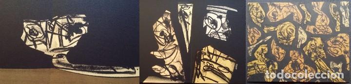 3 LITOGRAFÍAS DE ANTONIO SAURA / ANDRÉ VELTER: L'ENFER ET LES FLEURS EN ARCHÉS, 40 EJEMPLARES /1988 (Arte - Litografías)