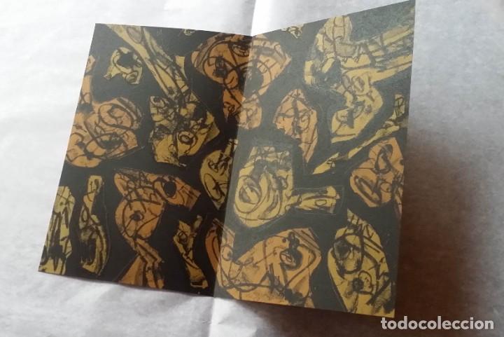 Arte: 3 litografías de Antonio SAURA / André Velter: L'enfer et les fleurs en Archés, 40 ejemplares /1988 - Foto 3 - 197826385