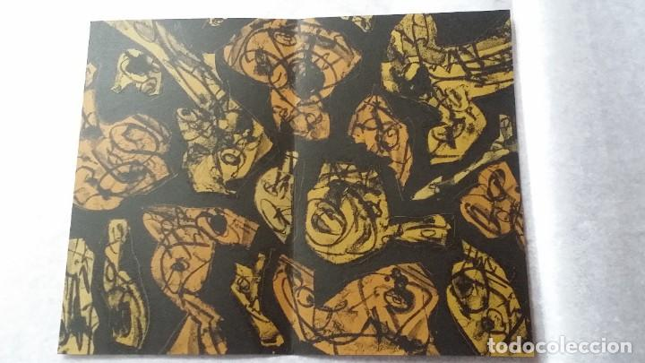 Arte: 3 litografías de Antonio SAURA / André Velter: L'enfer et les fleurs en Archés, 40 ejemplares /1988 - Foto 4 - 197826385