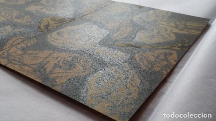 Arte: 3 litografías de Antonio SAURA / André Velter: L'enfer et les fleurs en Archés, 40 ejemplares /1988 - Foto 5 - 197826385