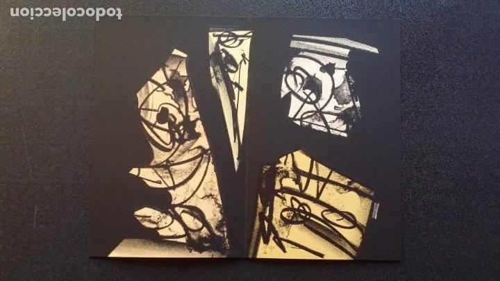 Arte: 3 litografías de Antonio SAURA / André Velter: L'enfer et les fleurs en Archés, 40 ejemplares /1988 - Foto 8 - 197826385