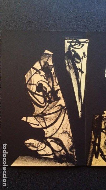 Arte: 3 litografías de Antonio SAURA / André Velter: L'enfer et les fleurs en Archés, 40 ejemplares /1988 - Foto 9 - 197826385