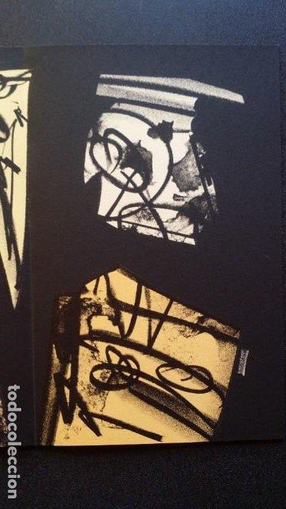 Arte: 3 litografías de Antonio SAURA / André Velter: L'enfer et les fleurs en Archés, 40 ejemplares /1988 - Foto 10 - 197826385