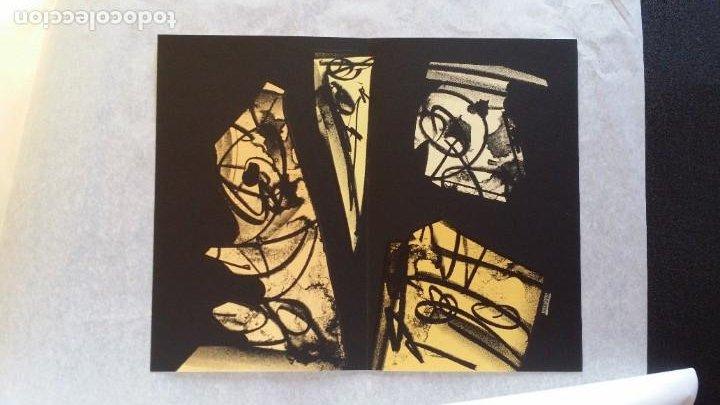 Arte: 3 litografías de Antonio SAURA / André Velter: L'enfer et les fleurs en Archés, 40 ejemplares /1988 - Foto 7 - 197826385