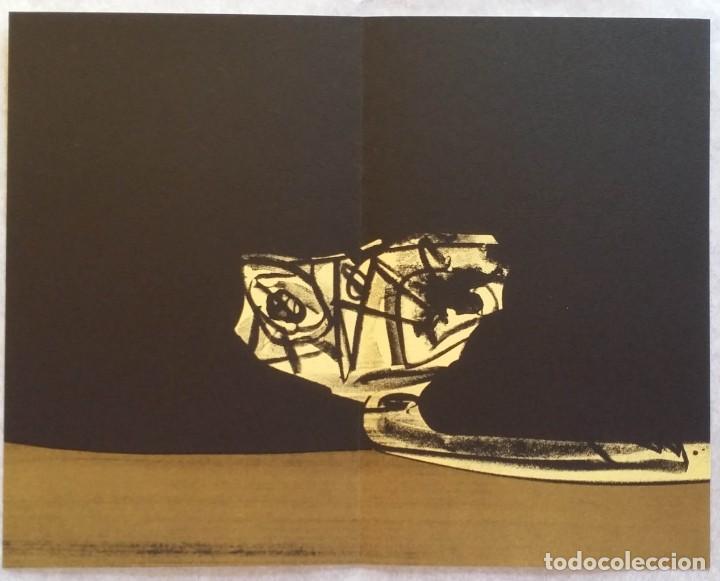 Arte: 3 litografías de Antonio SAURA / André Velter: L'enfer et les fleurs en Archés, 40 ejemplares /1988 - Foto 13 - 197826385