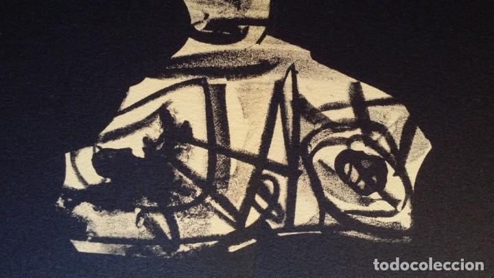 Arte: 3 litografías de Antonio SAURA / André Velter: L'enfer et les fleurs en Archés, 40 ejemplares /1988 - Foto 15 - 197826385