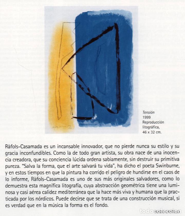 Arte: ALBERT RÀFOLS-CASAMADA TENSIÓN REPR LITOGRÁFICA FIR PLANCHA NUMERADA LÁPIZ D969/1000 COA FASC CARPET - Foto 35 - 198236353