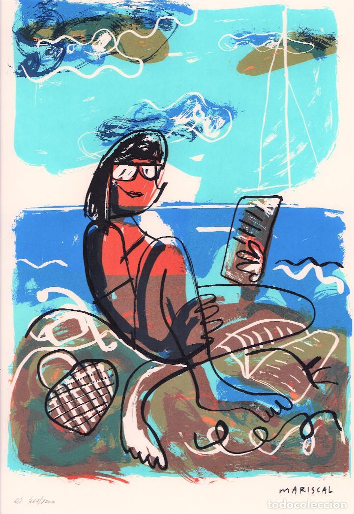 Arte: MARISCAL SIN TÍTULO REPROD. LITOGRÁFICA FIRMADA PLANCHA NUMERADA A LÁPIZ D 361/1000 COA FASC CARPETA - Foto 6 - 198415712
