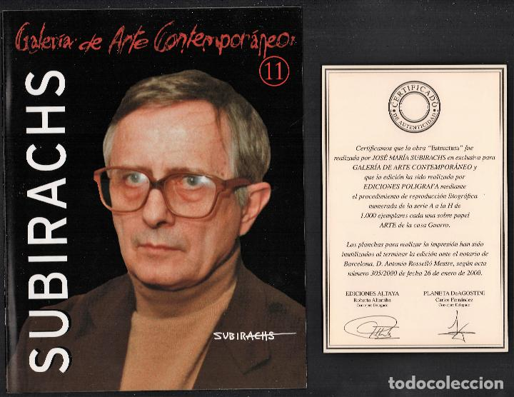 Arte: SUBIRACHS ESTRUCTURA REPROD. LITOGRÁFICA FIRMADA PLANCHA NUMERADA A LÁPIZ C966/1000 COA FASC CARPETA - Foto 7 - 198481088