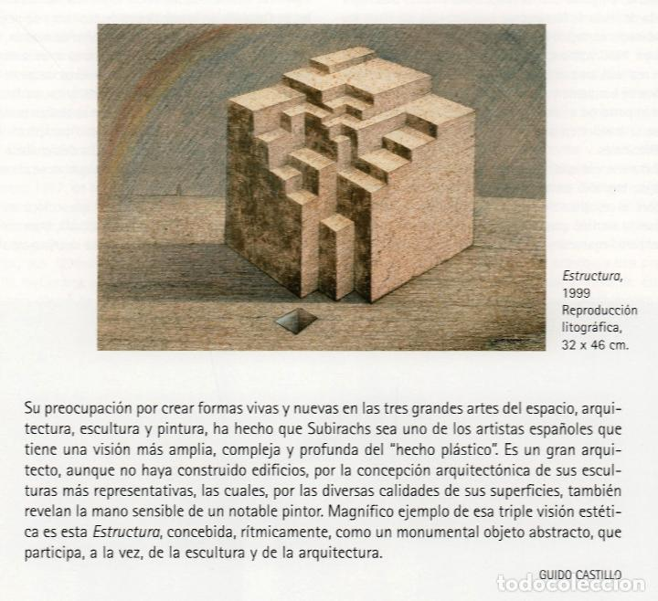 Arte: SUBIRACHS ESTRUCTURA REPROD. LITOGRÁFICA FIRMADA PLANCHA NUMERADA A LÁPIZ C966/1000 COA FASC CARPETA - Foto 47 - 198481088