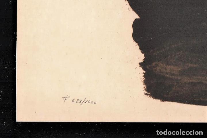 Arte: MANOLO VALDÉS RELOJ REPROD. LITOGRÁFICA FIRMADA PLANCHA NUMERADA A LÁPIZ F 623/1000 COA FASC CARPETA - Foto 2 - 198533768