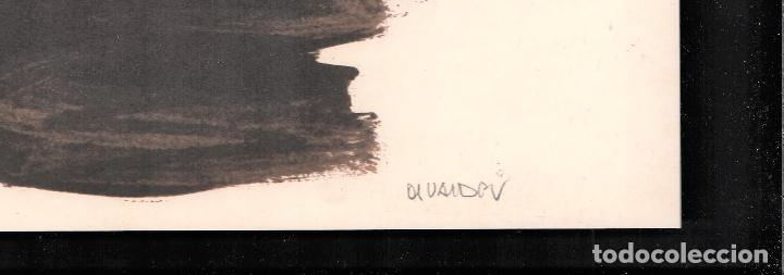 Arte: MANOLO VALDÉS RELOJ REPROD. LITOGRÁFICA FIRMADA PLANCHA NUMERADA A LÁPIZ F 623/1000 COA FASC CARPETA - Foto 3 - 198533768