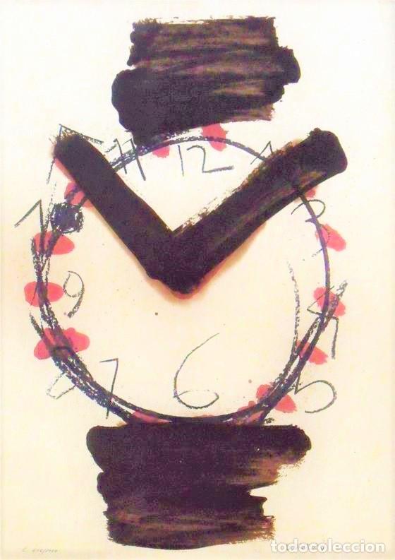 Arte: MANOLO VALDÉS RELOJ REPROD. LITOGRÁFICA FIRMADA PLANCHA NUMERADA A LÁPIZ F 623/1000 COA FASC CARPETA - Foto 48 - 198533768