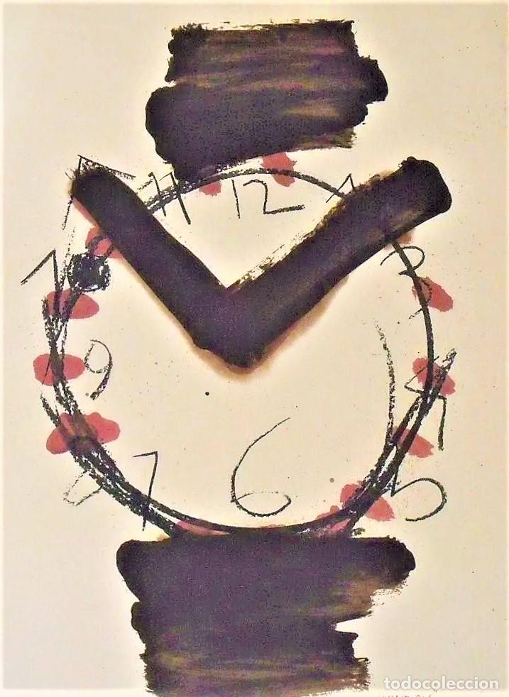 MANOLO VALDÉS RELOJ REPROD. LITOGRÁFICA FIRMADA PLANCHA NUMERADA A LÁPIZ F 623/1000 COA FASC CARPETA (Arte - Litografías)