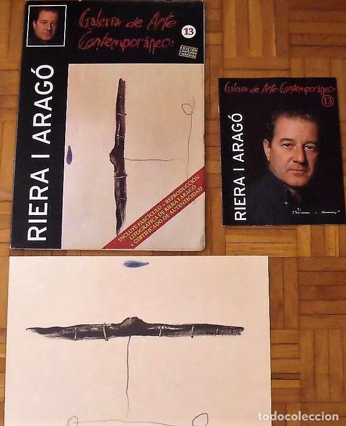 Arte: RIERA I ARAGÓ SUBMARINO REPR LITOGRÁFICA FIRMADA PLANCHA NUMERADA A LÁPIZ E367/1000 COA FASC CARPETA - Foto 10 - 198570861